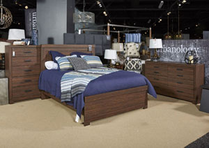 Arkaline Brown King Panel Bed
