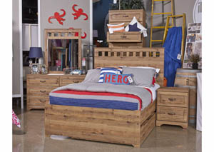 Brobern Medium Brown Twin Panel Bed