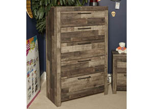 Derekson Multi Gray 5 Drawer Chest