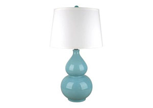 Saffi Light Blue Ceramic Table Lamp