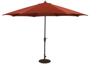 Burnt Orange Large Auto Tilt Umbrella