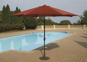 Umbrella Accessories Burnt Orange Large Auto Tilt Umbrella
