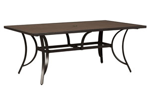 Carmadelia Tan/Brown Rectangular Dining Table