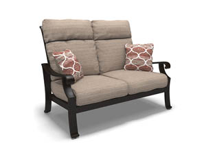 Chestnut Ridge Brown Loveseat w/Cushion