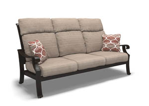 Chestnut Ridge Brown Sofa with Cushion
