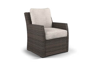 Salceda Beige/Brown Lounge Chair w/Cushion
