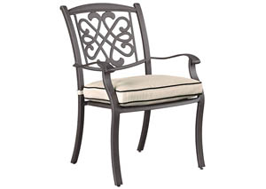 Burnella Beige/Brown Chair w/Cushion (Set of 4)
