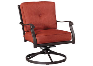 Burnella Brown Swivel Lounge Chair