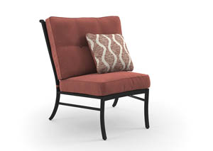 Burnella Brown Armless Chair w/Cushion