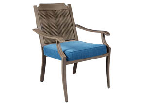 Partanna Blue/Beige Chair w/Cushion (Set of 4)