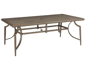 Partanna Blue/Beige Rectangular Dining Table,Outdoor By Ashley