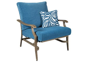 Partanna Blue/Beige Motion Lounge Chair,Outdoor By Ashley