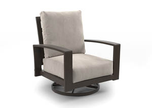 Cordova Reef Dark Brown Swivel Lounge Chair (2/CN)