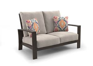 Cordova Reef Dark Brown Loveseat w/Cushion