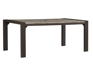 Peachstone Beige/Brown Rectangular Dining Table,Outdoor By Ashley