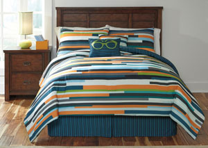 Seventy Stripe Full Top of Bed Set