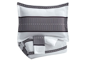 Masako Black/White King Comforter Set,Signature Design By Ashley
