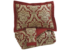 Asasia Scarlet King Comforter Set,Signature Design by Ashley