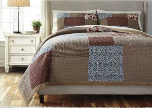 Patchwork Plum Queen Comforter Set