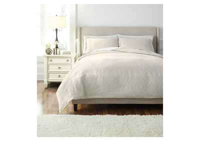 Damask Natural Queen Duvet Set