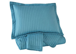 Raleda Turquoise Queen Coverlet Set
