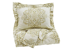 Fairholm Natural Queen Duvet Cover Set