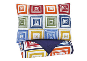 Tazzoni Multi Twin Coverlet Set,Signature Design by Ashley