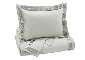 Farday Natural Queen Duvet Cover Set,Signature Design by Ashley