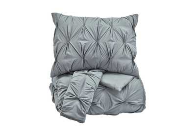 Rimy Gray Queen Comforter Set,Signature Design by Ashley