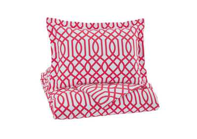 Loomis Fuchsia Twin Comforter Set,Signature Design By Ashley