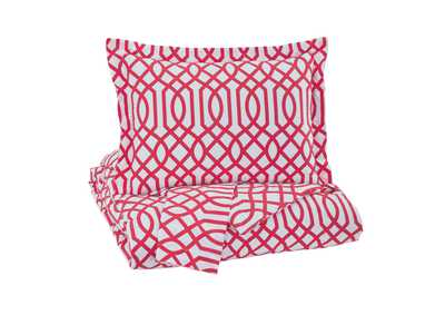 Loomis Fuchsia Full Comforter Set,Signature Design By Ashley