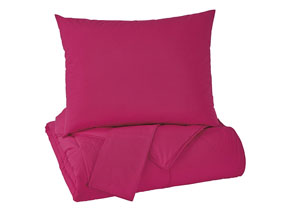 Plainfield Magenta Full Comforter Set,Signature Design By Ashley