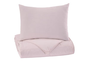 Plainfield Soft Pink Twin Comforter Set
