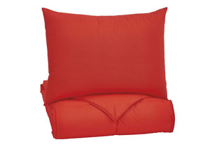 Plainfield Red Twin Comforter Set