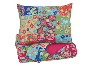 Belle Chase Patch Full Quilt Set
