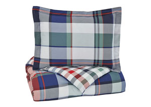 Mannan Plaid Twin Comforter Set