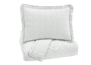 Amare White King Coverlet Set