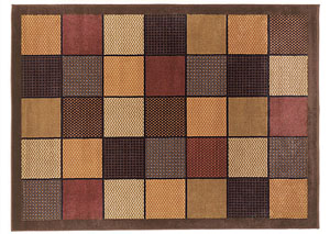 Patchwork Brown Medium Area Rug