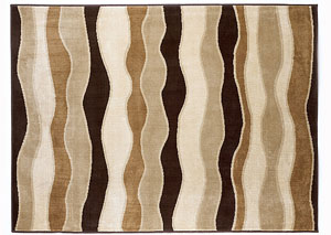Frequency Toffee Medium Area Rug
