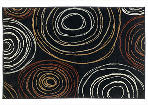 Suri Black & Red Medium Rug