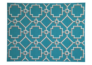 Zarek Turquoise Medium Rug,Signature Design by Ashley