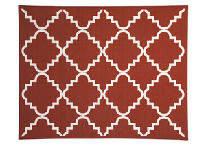 Bandele Orange/White Medium Rug,Signature Design by Ashley