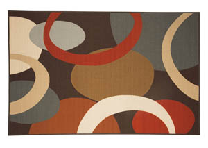 Acciai Brown/Blue Medium Rug