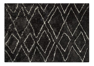 Deryn Black/White Medium Rug