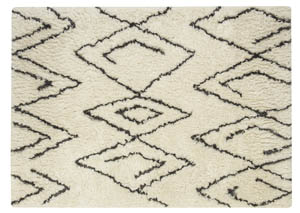 Mevalyn White/Black Large Rug