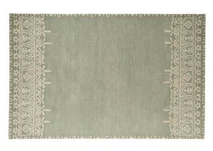 Brimly Green Large Rug