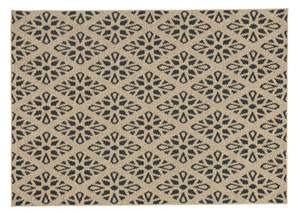 Jerrod Black/Tan Large Rug