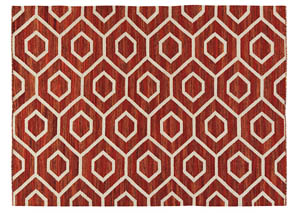 Flatweave Burnt Orange Medium Rug,Signature Design by Ashley
