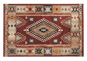 Oisin Brick Large Rug