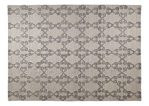 Patterned Gray/White Large Rug,Signature Design by Ashley